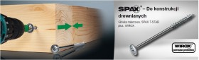 SPAX - HI.FORCE 6mm, gwint częściowy